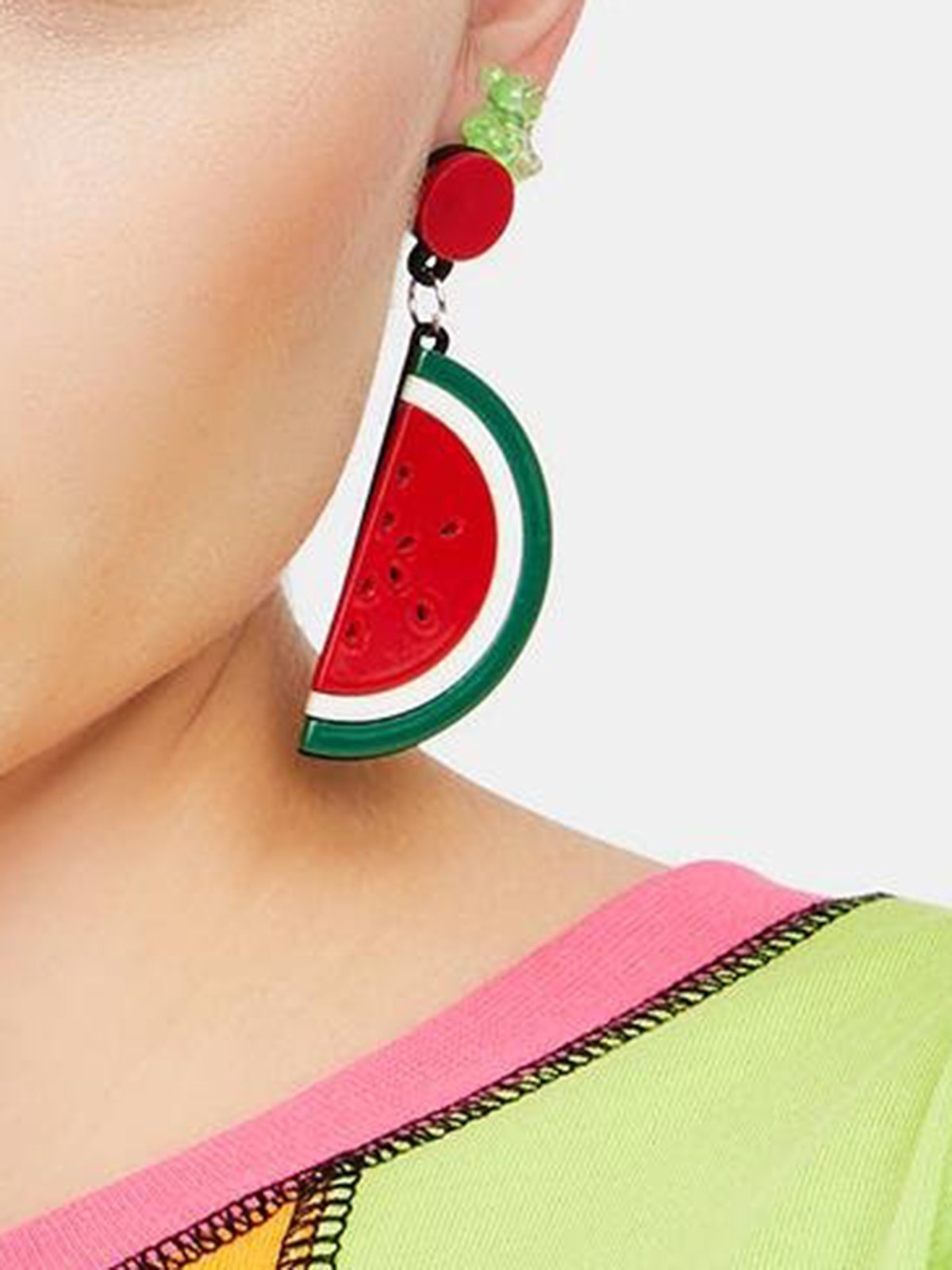 Collana Decor Anguria - Rosso ONE SIZE
