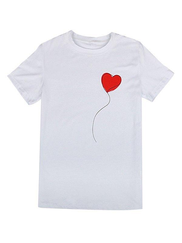 Love Balloon Printed Tee - White S