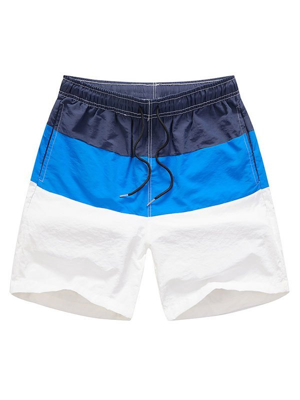 Men's Color Block Swim Trunks - Navy Blue XL
