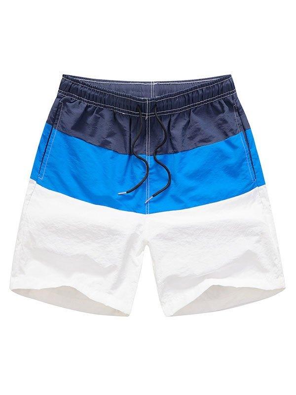 Men's Color Block Swim Trunks - Navy Blue S