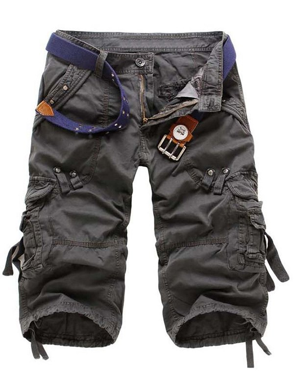 Men's Capri Cargo Shorts - Dark Gray S