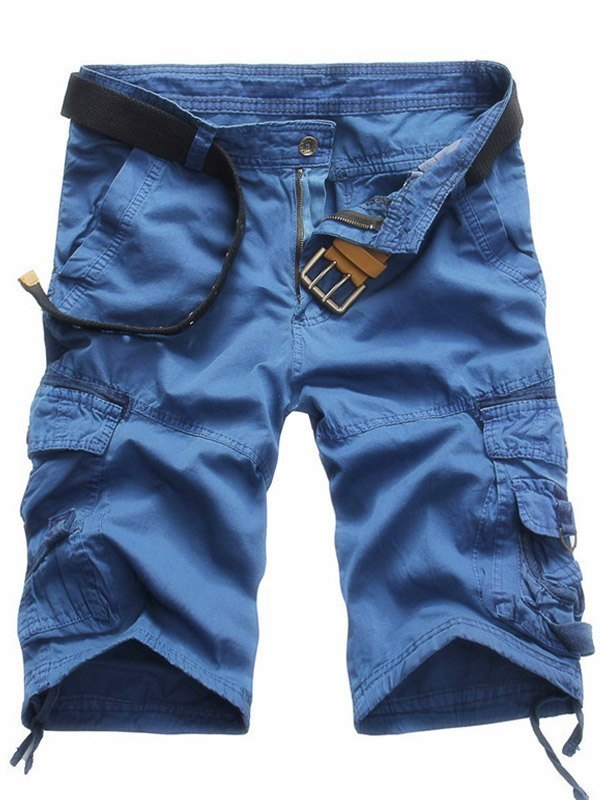 Men's Knee Length Cargo Shorts - Blue XL