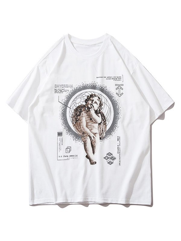 Men's Daydream Cherub Graphic Tee - White L