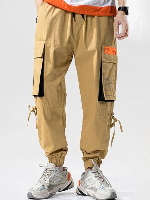 Men's Multi Pocket Cargo Pants - Khaki 2XL