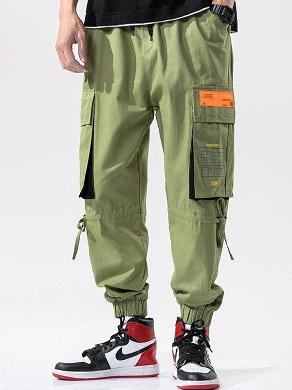 Men's Multi Pocket Cargo Pants - Green 2XL