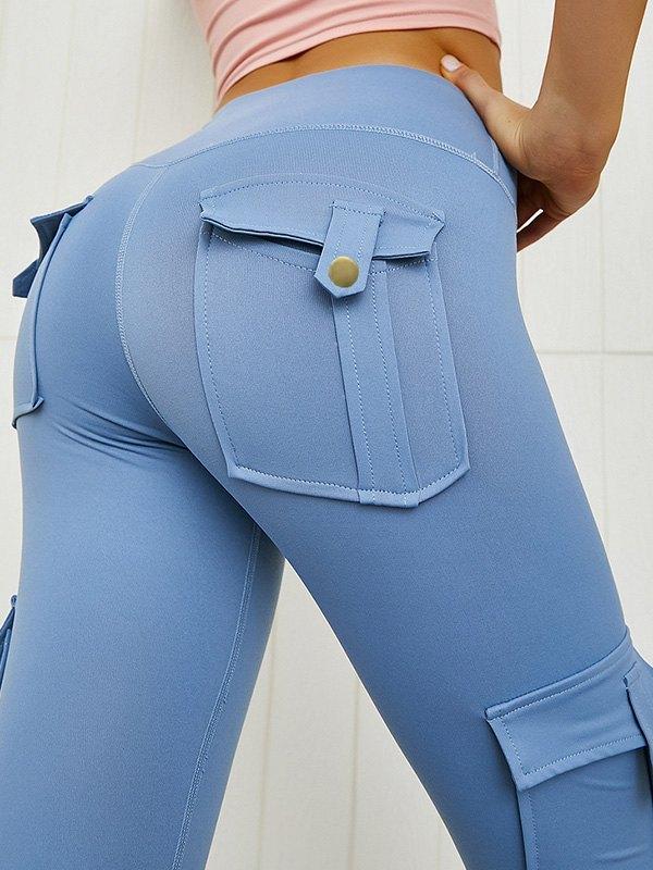 Butt Lift Combat Active Legging - Pure Blue L