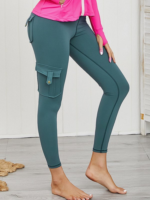 Butt Lift Combat Active Legging - Peacock Green S
