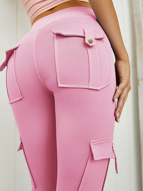 Butt Lift Combat Active Legging - Pink M