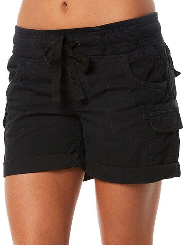 Mid Rise Cuffed Cargo Shorts -