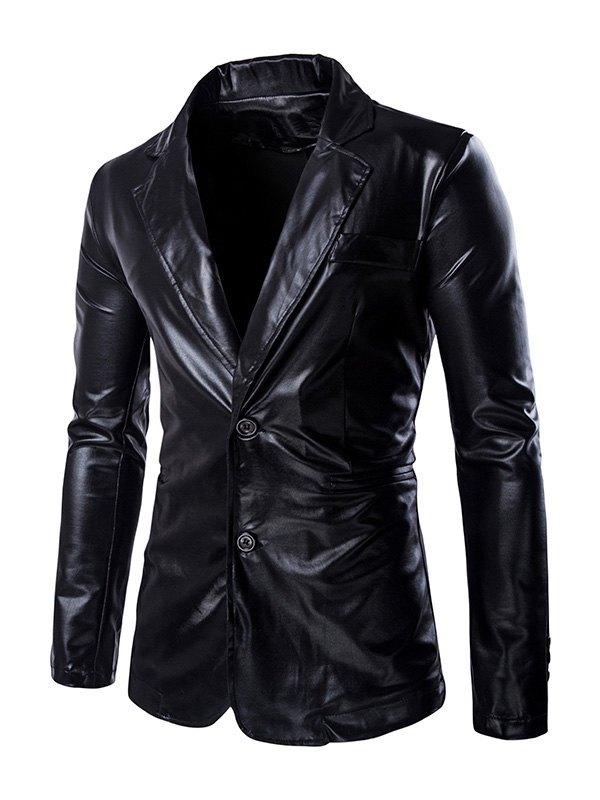 Men's Metallic Suit Pants Set - Black M