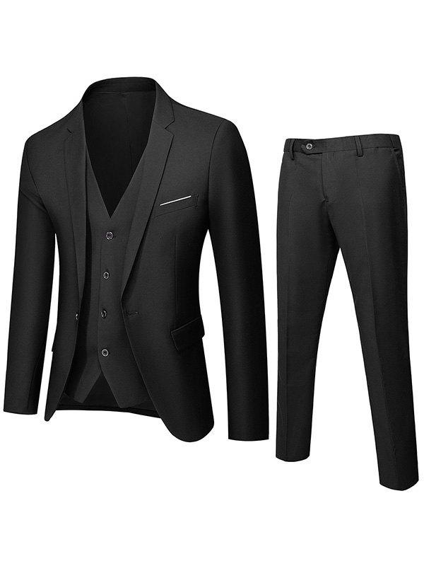 Men's Slim Three Piece Suit Set -