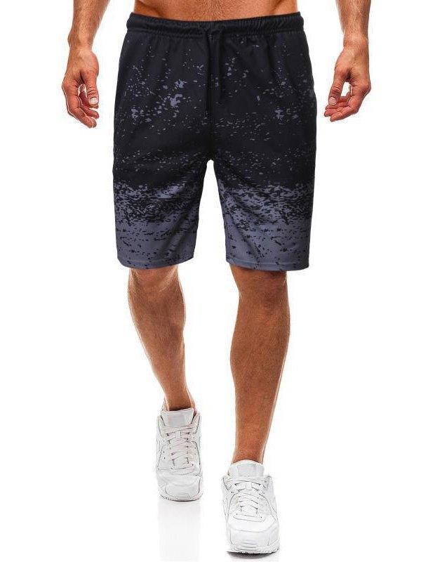 Men's Splash Print Jersey Shorts - Gray 3XL