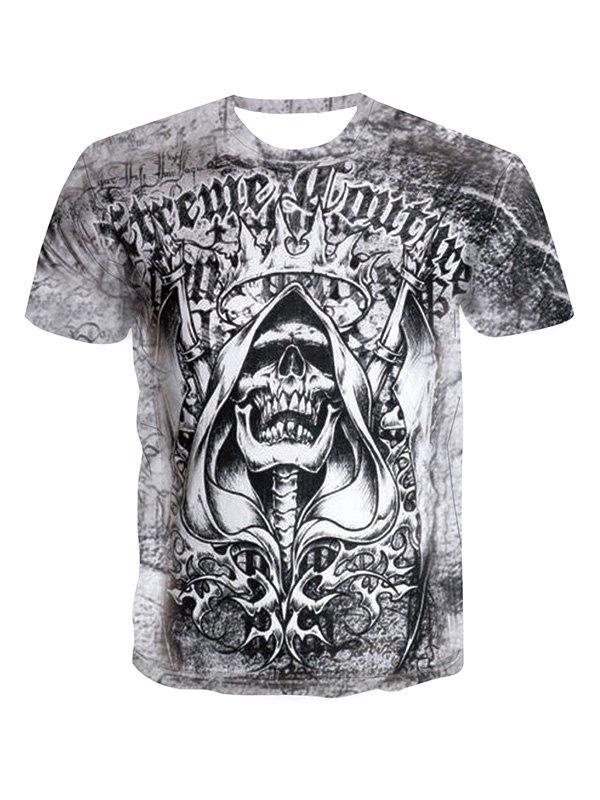 Men's Dread Skull Graphic Tee - White M