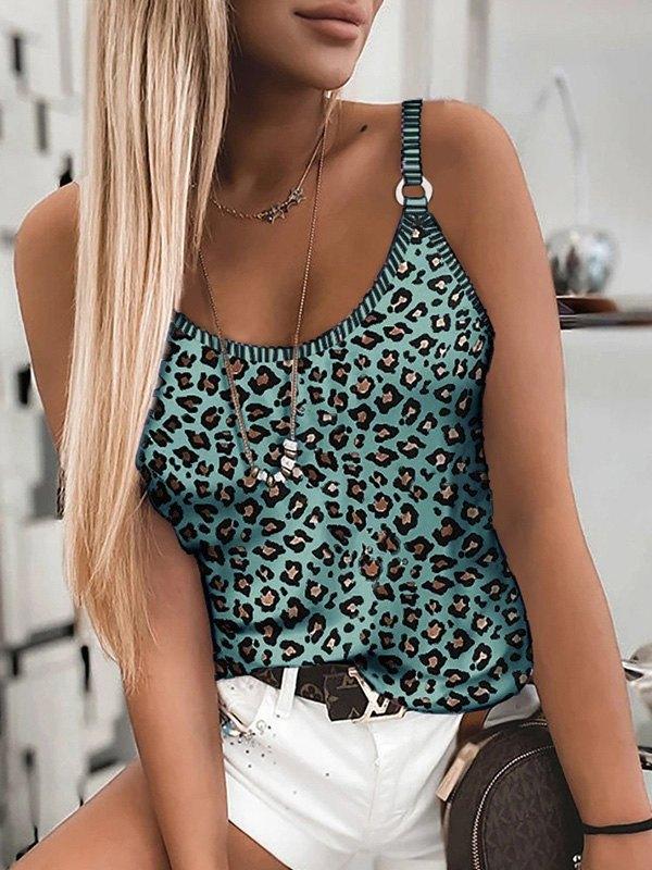 Leopard Print Cami Top -