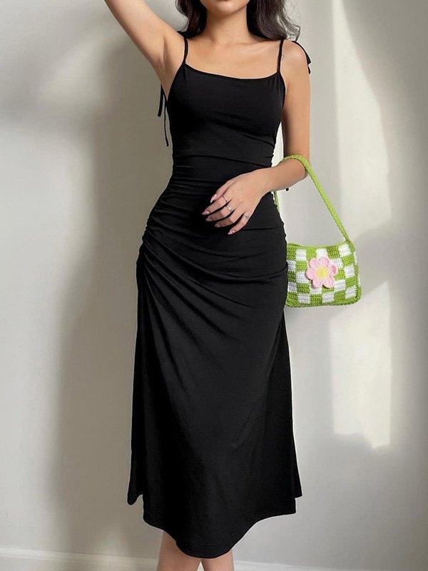 Backless Slip Maxi Dress -