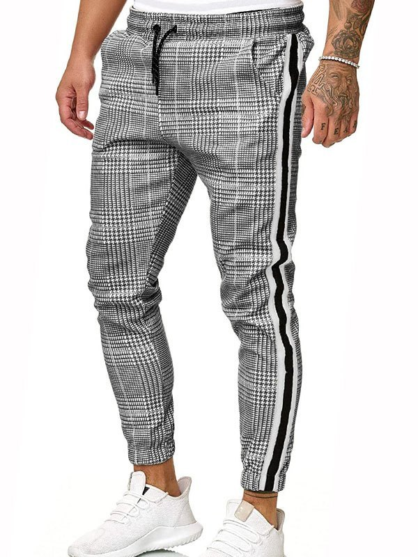 Men's Houndstooth Tapered Pants -