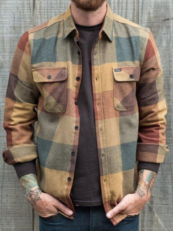Men's Long Sleeve Checkered Shirt -
