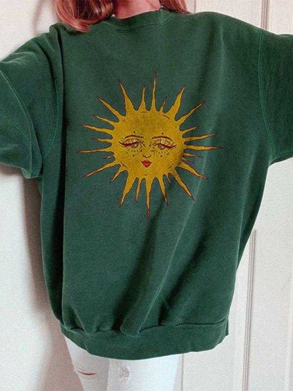 Sun Print Long Sleeve Sweatshirt -