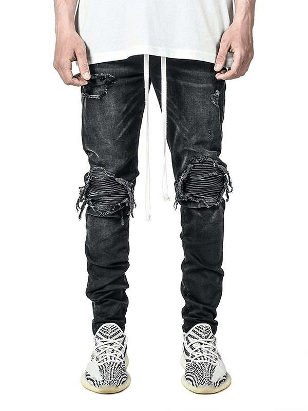 Men's Distressed Slim Jeans -