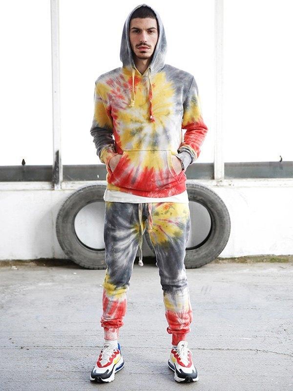 Men's Spiral Dye Tracksuit Set -