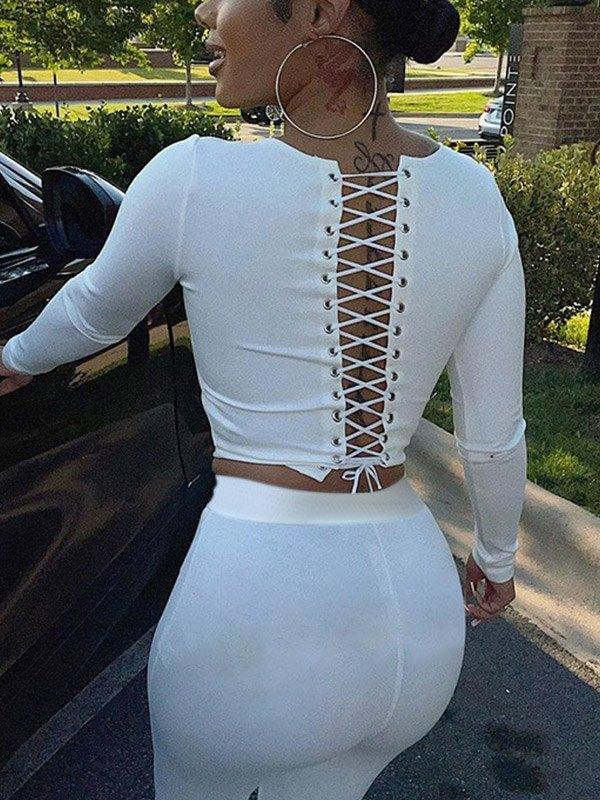 Tie Back Long Sleeve Set -