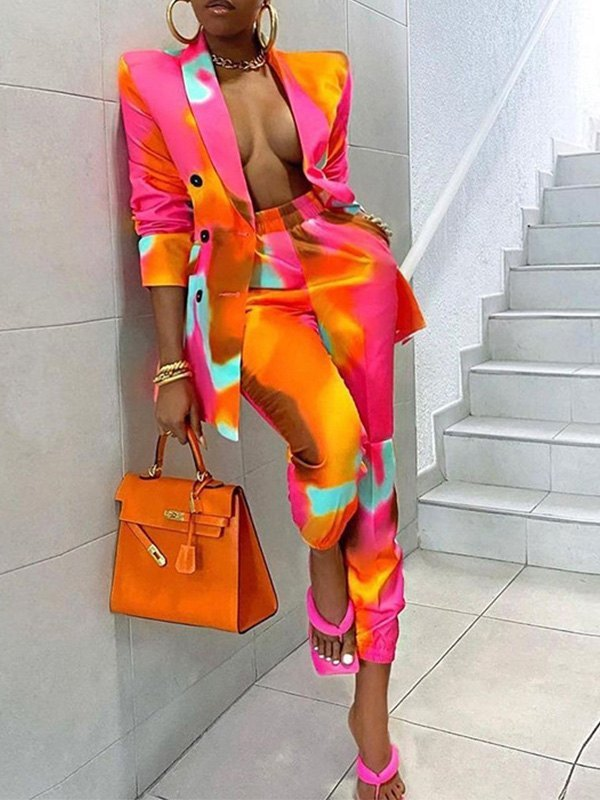 Over Dyed Long Sleeve Set -