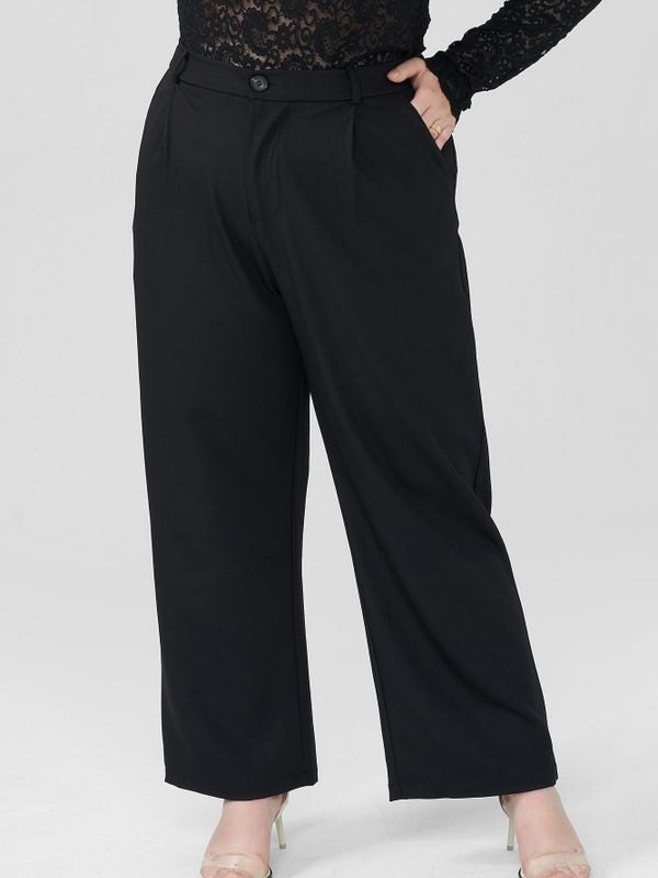 Lounge Breathable Zippered Wide-leg Trousers - Black 2XL