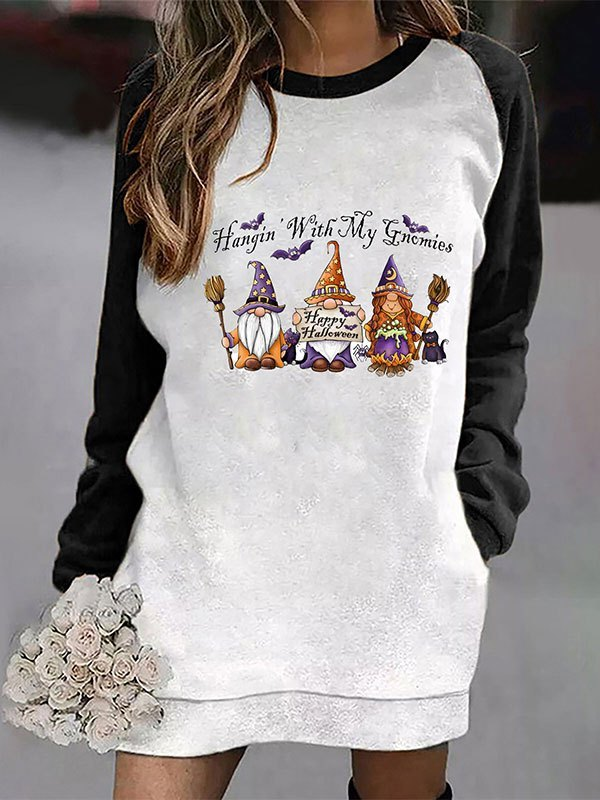 Christmas Raglan Sleeve Longline Sweatshirt - Black L